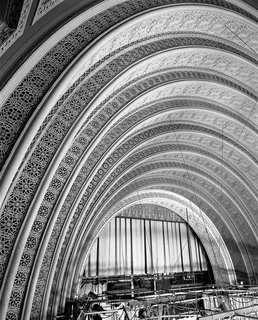 The Architecture of Adler & Sullivan - Photo 9 of 19 - View of the proscenium in the Schiller Building (later Garrick Theater), Chicago, Illinois, begun 1891. Photo courtesy of The Richard Nickel Committee and Archive.