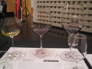 The stars of the show: (from left) Montrachet, Grand Cru Burgundy, Grand Cru Bordeaux.
