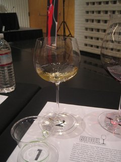 Here's the Montrachet glass we used to taste the Ceja Vineyards chardonnay.