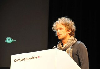 Compostmodern in Review - Photo 5 of 5 - Yves Behar delivers the first lecture at the 2011 Compostmodern conference.