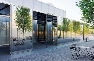 The new 120,000-square-foot wing at the North Carolina Museum of Art (2010)is filled with daylit exhibition galleries and accessed by four different doors, enabling visitors to move easily between the galleries and surrounding gardens.<br><br>Don't miss a word of Dwell! Download our  FREE app from iTunes, friend us on Facebook, or follow us on Twitter!