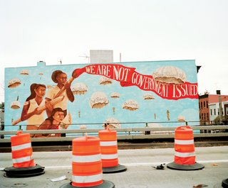 Over the past 15 years, Groundswell Community Mural Project has developed hundreds of murals around New York City that give voice to otherwise underrepresented ideas and perspectives, and beautify neighborhoods that are rarely the focus of public art initiatives. Here's one example.