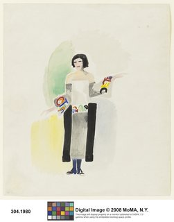 Robe poème no. 1328, designed by Sonia Delaunay, France, 1923. Watercolor, gouache, and pencil on paper. Museum of Modern Art, New York. © L & M SERVICES B.V. The Hague 20100623. Photo: © The Museum of Modern Art/ Licensed by SCALA/ Art Resource, NY.