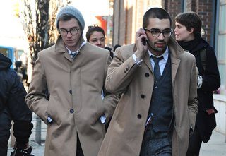 A street scene taken during New York Fashion week, as photographed by GQ.