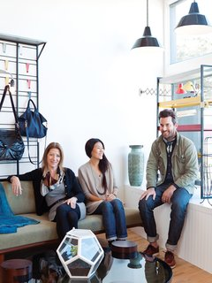 This Silver Lake Shop Redefines the General Store - Photo 1 of 11 - Kevin Carney, Bo Carney, and Ellen LeComte of Mohawk General Store and Amsterdam Modern.