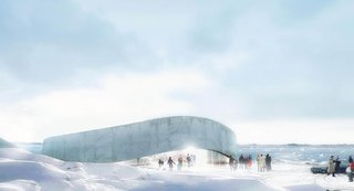 Bjarke Ingels' design for Greenland's National Gallery of Art. Photo via B.I.G.
