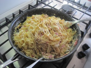 Pasta Carbonara - Photo 3 of 4 - The eggs will coagulate as they come into contact with the hot pasta so it is important to work quickly.