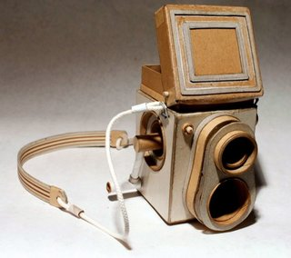 Nothing more than cardboard, tape and rubber bands in Kiel Johnson's Cardboard Cameras.
