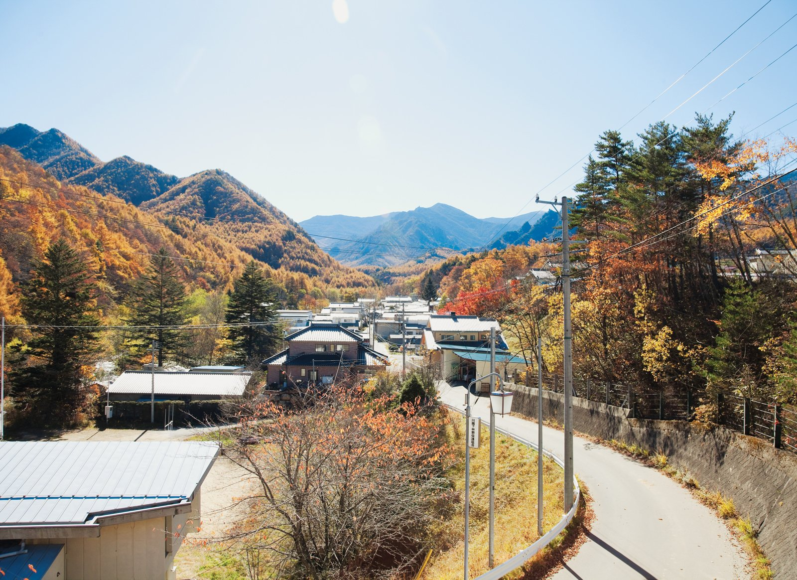 A view of the mountains from the village of Kawakami, en route to the Kobayashis' property.  Photo 2 of 28 in A Platform for Living