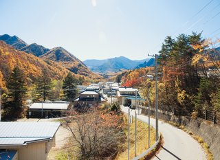 A view of the mountains from the village of Kawakami, en route to the Kobayashis' property.