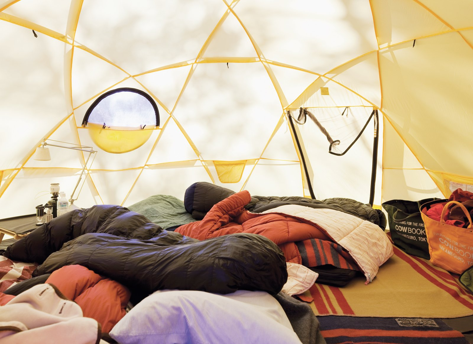 Inside one of the Kobayashis' North Face tents.  Photo 10 of 28 in A Platform for Living