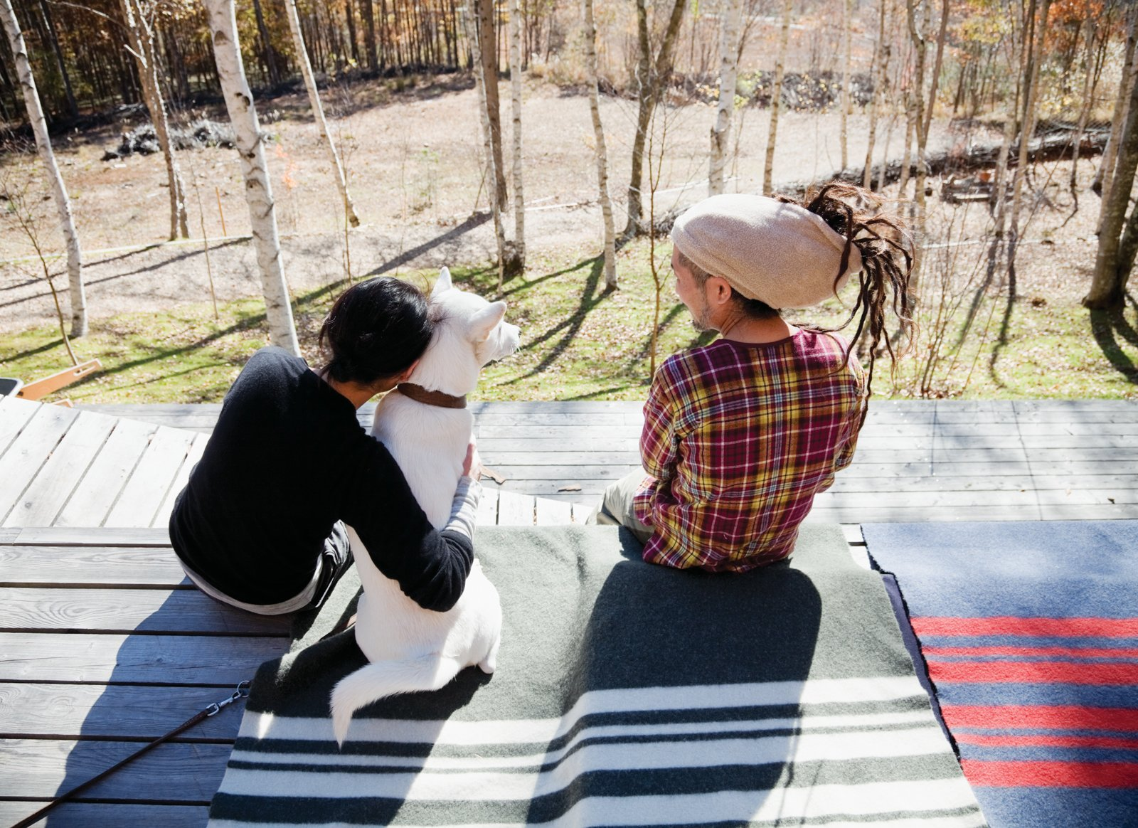 Scenes from a weekend in the woods feature many .......Research products, including camping cookware and striped wool blankets.  Photo 11 of 28 in A Platform for Living
