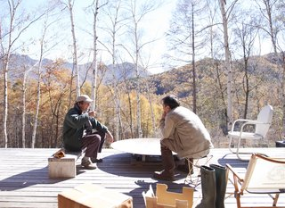 Weekends at the retreat are relaxed, consisting mostly of chopping firewood or sitting around the fire pit on the deck.