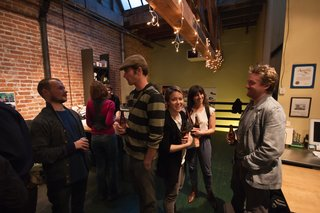 Another view of the social scene at REBAR. Photo by Søren Schaumburg.
