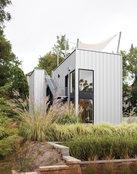 Exterior, Cabin Building Type, House Building Type, and Metal Siding Material The home's metal cladding is Pac-Clad, a material typically used for roofs.  Photo 6 of 25 in Come Sail Away