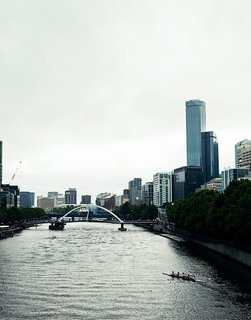 Exploring Melbourne, Australia - Photo 24 of 25 - The Yarra River cuts right through town, as seen from this view from Swanston Bridge.