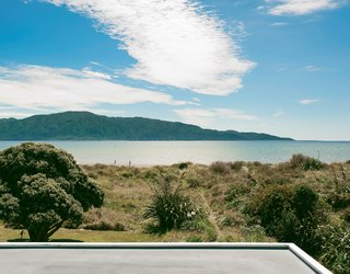 The view of Kapiti Island is fully revealed from the tower.