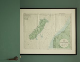 A topographic map of Kapiti Island hangs in the tower.