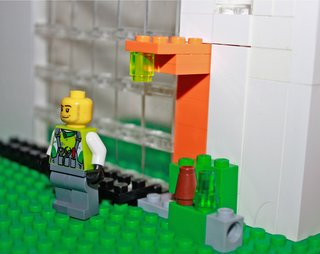 As part of the process in hiring the architects the entire family was able to visit a range of projects by Tom Kundig. One of our favorites was The Brain. Here, a Lego model representing the entrance to the Brain Studio. No detail is overlooked from the entry canopy to the lighting. One of the best ways to get the kids involved was to let them make their own house creations and try to mimic some of Kundig's projects on their own (and with the help of their dad!).