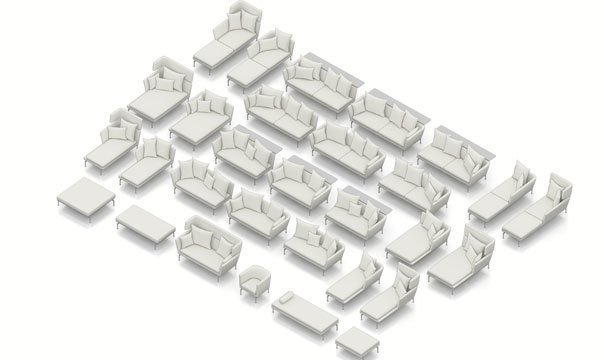 Suita comes with a wide array of options.  Photo 1 of 7 in Suita Sofa by Antonio Citterio