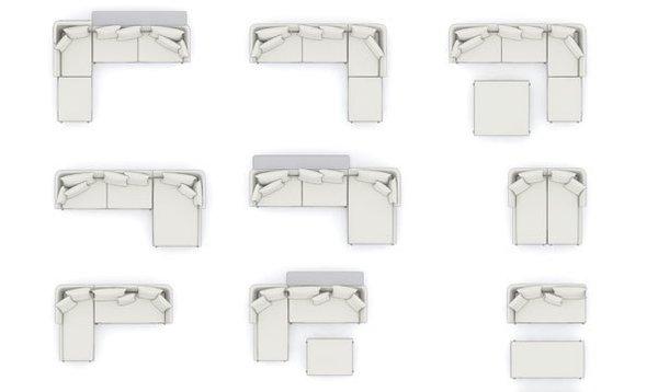 Some examples of Suita arrangements.  Photo 2 of 7 in Suita Sofa by Antonio Citterio