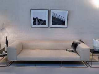 The Ile Club sofa is purposefully low-slung, and both comfortable and smart.