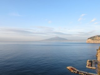 Our view across the Bay of Naples to Vesuvius has been enjoyed since Roman times. Incredible!