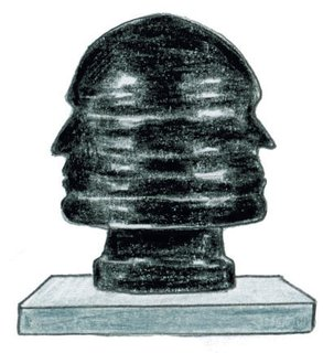 1933<br><br>Renato Giuseppe Bertelli completes his sculpture <br><br>Profilo del Duce.