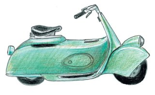 1943<br><br>Moto Piaggio 5 scooter debuts.