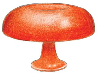 1964<br><br>Giancarlo Mattioli designs Nesso lamp.
