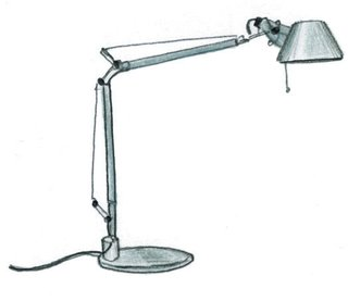 1986<br><br>Michele de Lucchi and Giancarlo Fassina design Tolomeo lamp.