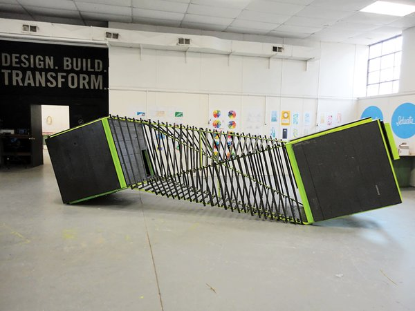 Chicktopia's twisting run is made from reclaimed tobacco sticks.