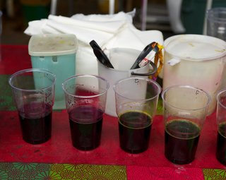 The color kitchen, where inks are made, is located in an open area as the inks are non-toxic and odorless.