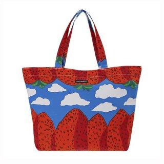 The Marimekko Pilvi Bag, featuring designer Maija Isola's Mansikkavouret print.