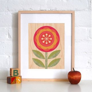 New From Petit Collage - Photo 2 of 7 - Red Flower, a new print.