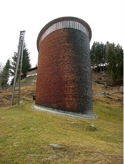 The Peter Zumthor-designed St. Benedict Chapel in Switzerland.