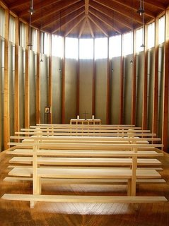 The peaceful chapel interior.