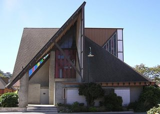 The John Scott-designed Futuna Chapel in Wellington, New Zealand.