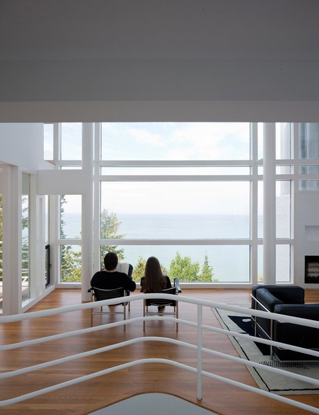 The pair take in the expanse of Lake Michigan. The Douglas House's views are completely unencumbered.