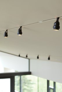 """Back on TrackIn cold places, recessed lighting in a vaulted ceiling can lead to water vapor problems in the roof. So Bull inset standard surface-mounted Juno track lights into a notch. """"With a flush track the common track light looks much more sophisticated,"""" he observes.<br><br>junolightinggroup.com"""