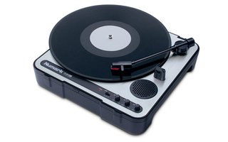 The PT-01USB Portable Vinyl-Archiving Turntable by Numark.