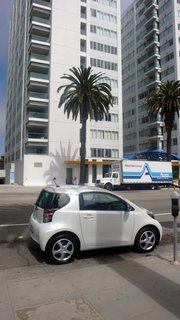 Especially adept at fitting into almost any imaginable parking spot, the 2012 Scion iQ takes up about half the space of a regular-size car.