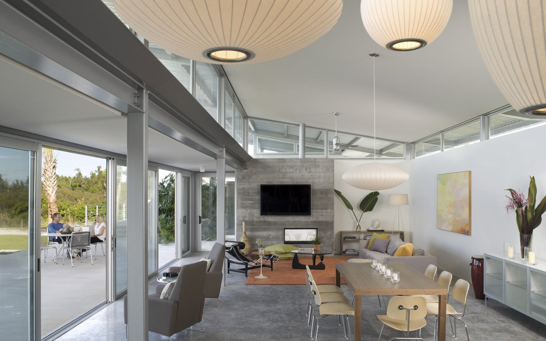 Living Room, Chair, and Pendant Lighting Photo via Hughesumbanhowar Architects  Photo 6 of 9 in Ski for All