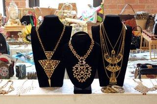More Finds from The Vintage Bazaar - Photo 3 of 10 - Statement necklaces like these elaborate examples from seller Shop NOV (Adrienne Baskin) were a big seller at the May TVB. <br><br>Photo by <br><br>Felix Jung