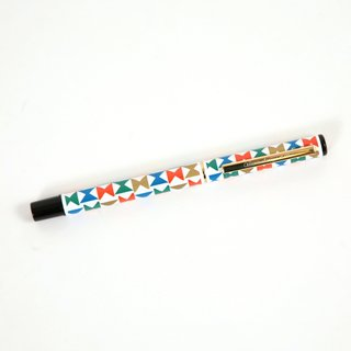 Inspired by the Miller House - Photo 3 of 5 - This Pinwheel pen features the motif that Alexander Girard designed for the Georg Jensen Carolus Magnus dinnerware used at Miller House. Girard's signature is engraved on the pocket clip.