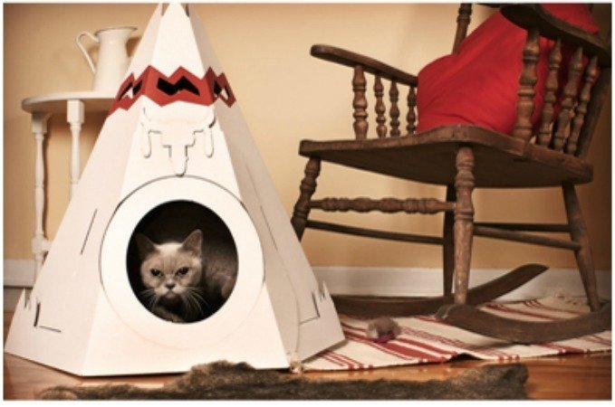 This paper cat house is by Canada's Loyal Luxe.  Photo 9 of 11 in Friday Finds 10.07.11