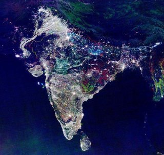 NASA shot this image of India on the first day of Diwali, the Hindu festival of lights.