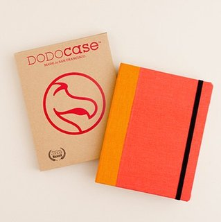 DODOcase's stylish iPad covers come in a spectrum of hues like this one in tangerine orange.