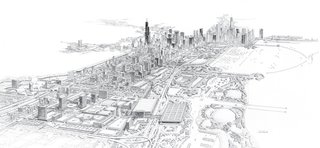A masterplan for Chicago from 1983 is inspiring for its detail and depth.