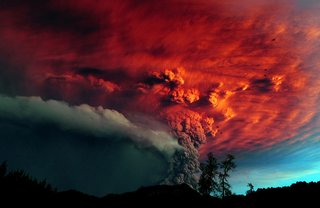 Chile's Puyehue volcano sends up a cloud of ash in June of 2011.